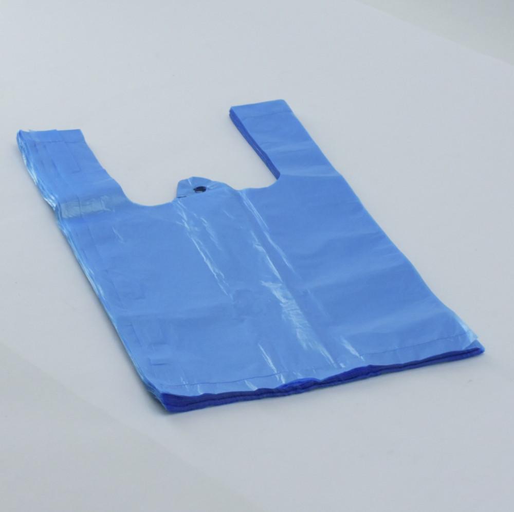 Bevásárló tasak 16+12x30 cm kék, ingvállas