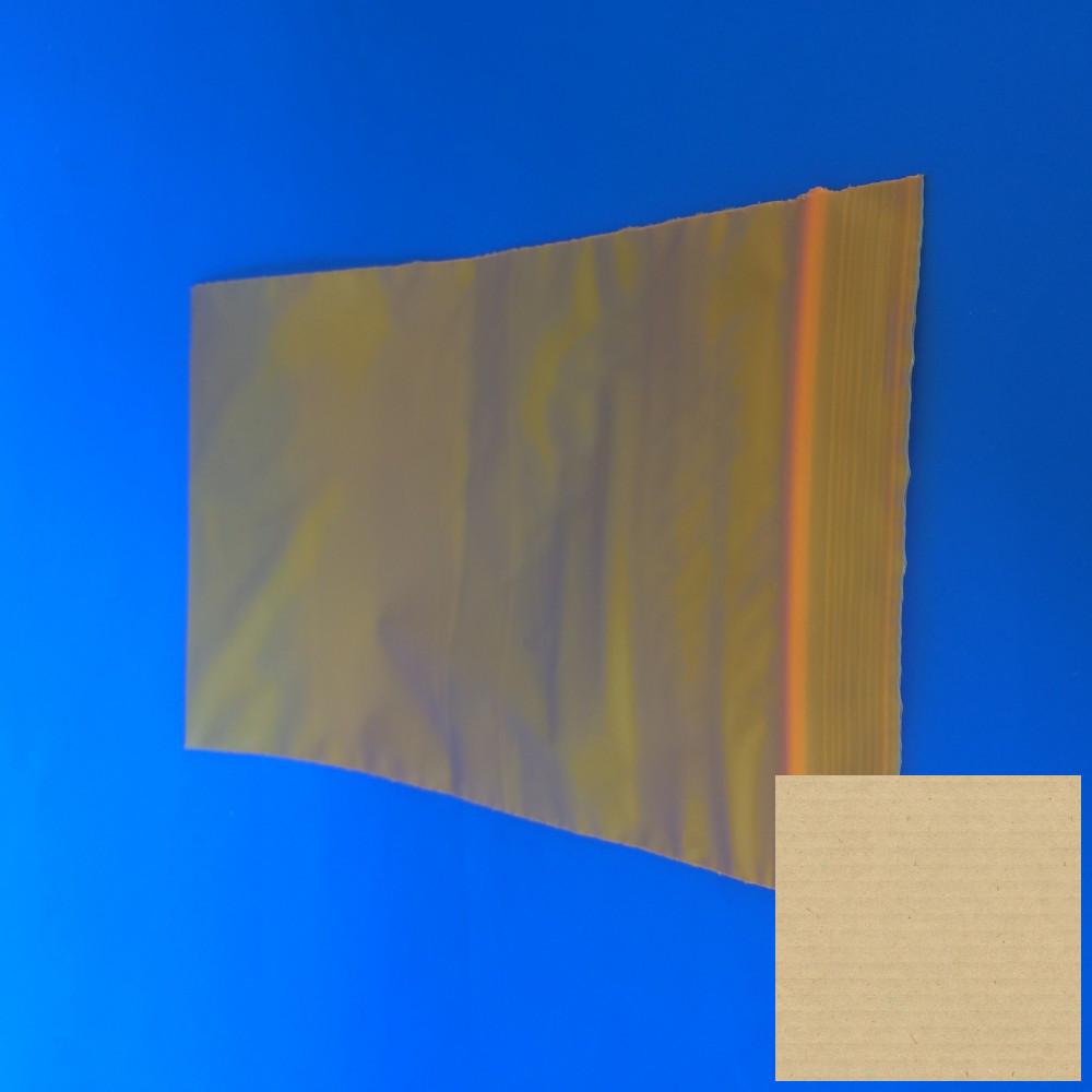 Simítózáras tasak 120x170mm/60my, sárga-áttetsző