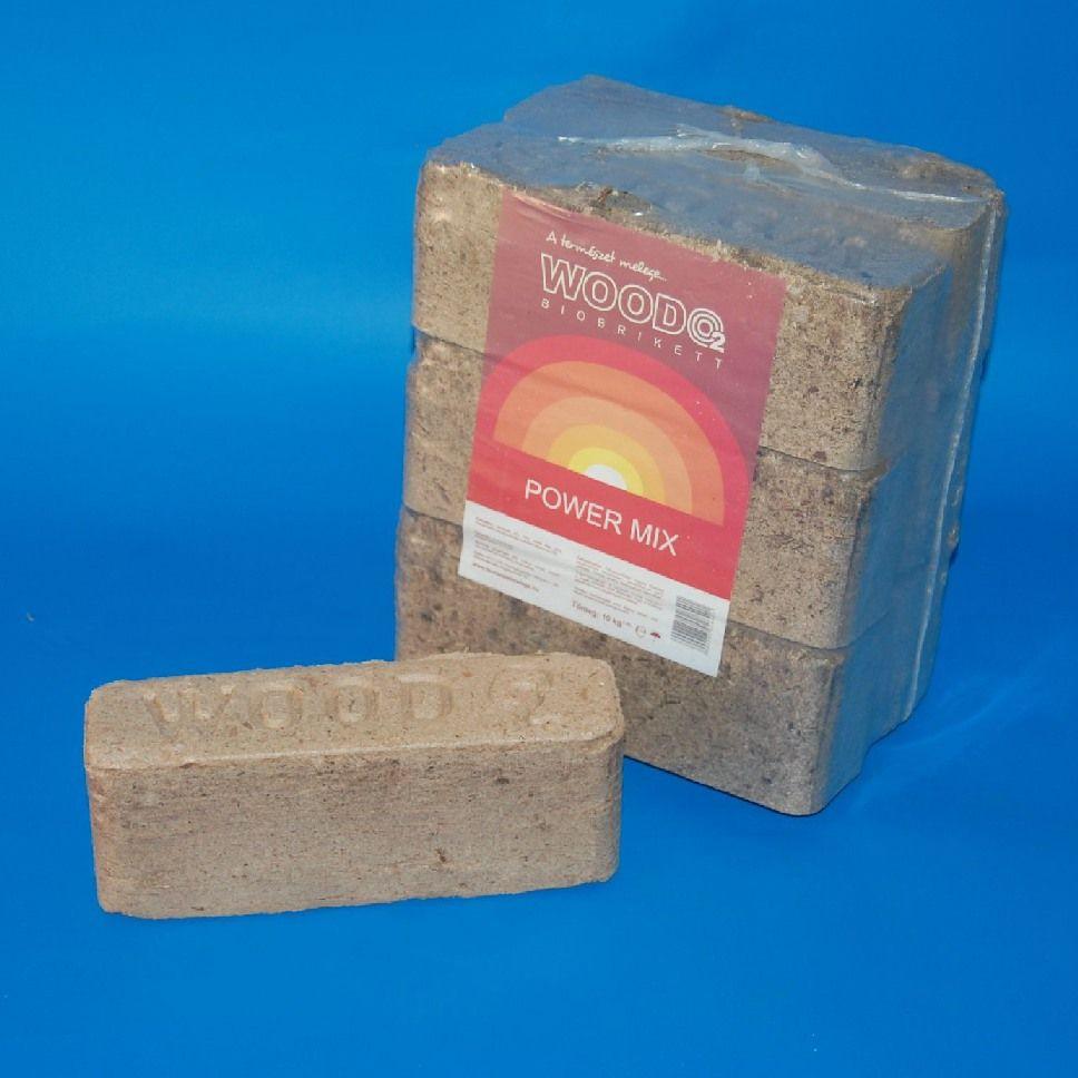 Biobrikett WoodO2 keményfa
