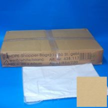 shopper bag 40+20x60 cm white