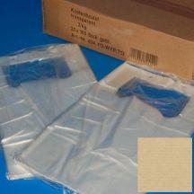 Tasak füles HDPE 22+12x37cm, 3kg-os, ingvállas, 100 db/blokk, 2500db/#