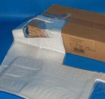 Füles tasak HDPE 22+12x43cm, 5kg-os, ingvállas, 100 db/blokk, 2500db/#