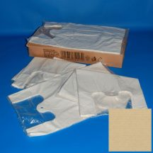 shopper bag 25+12x47 cm white