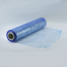 Sztreccsfólia, nyújtható fólia kézi 500mm/17my/300m kék-áttetsző