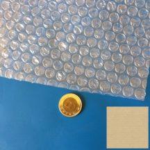 Légpárnásfólia LDPE/reg. 400mm/2x30mikron, 150fm/3,4kg/tekercs