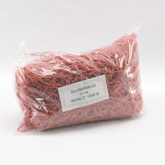 Gumigyűrű 100/1 mm piros kb. 1540db/kg
