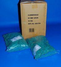 Gumigyűrű 20/1 mm zöld (gumi) 1kg