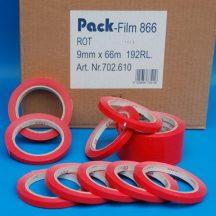 Ragasztószalag 9mm/66m piros PVC/OSZ/NK/55my