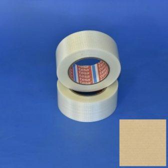 Rag.szalag TESA 4591 50mm/50m  PET/SZI/140my kétirányú üvegszálerősítésű