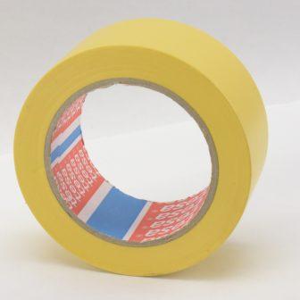 Rag.szalag TESA 60760 50mm/33m sárga PVC/NK/150my padlójelölő