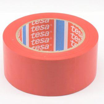 Ragasztószalag TESA 60760 50mm/33m piros PVC/NK/150my padlójelölő