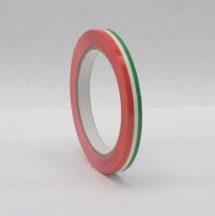 Ragasztószalag 9mm/66m nemzetiszínű PVC