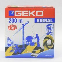 Kordonszalag 70mm/200m fekete-sárga LDPE