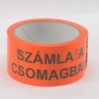 "adhesive tape 50mm/33m ""számla a csomagban (invoice inside)"""