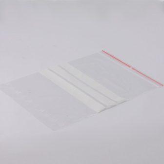 Simítózáras tasak 180x250 mm írható csíkkal, visszazárható