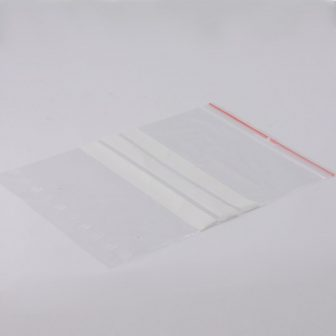 zip bag 180x250 mm writeable lines