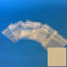 Simítózáras tasak 100x120mm/50my egyedi termék