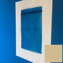 Simítózáras tasak 120x170mm/60my, kék-áttetsző