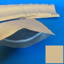 Alu árnyékolt simítózáras tasak talpas 160x225/30mm natúr papír+alu