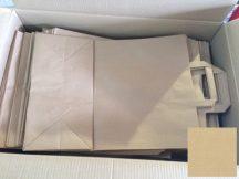 Papír tasak szalagfüles 180+80x220mm natúr, 80g/m2, 250 db/karton, 25 db/hajtás