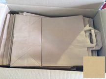 Papír tasak szalagfüles 320+160x450mm natúr, 80g/m2, 250 db/karton, 50 db/hajtás
