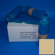sack 700x1000mm/35my blue LDPE sealing tape