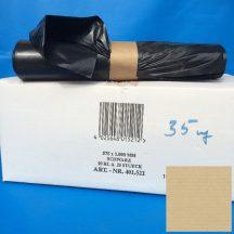 Zsák LDPE/reg 575x1000mm/35mikron, fekete, 25db/tek., 250db/#