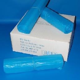 Zsák HDPE 700x1100mm/18mikron, kék, 50db/tek., 500db/#