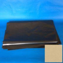 Zsák HDPE 700x1100mm/20mikron, fekete, 50db/tek., 500db/#