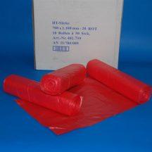 Zsák HDPE 700x1100mm/20mikron, piros, 50db/tek., 500db/#