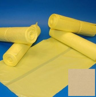 Zsák HDPE 700x1100mm/20mikron, sárga, 50db/tek., 500db/#
