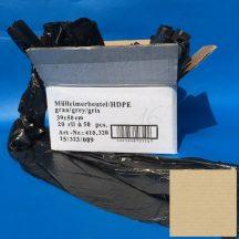 sack 390x500mm HDPE gray