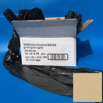 Zsák 390x500mm HDPE szürke