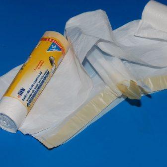sack 630x730mm HDPE green sealing tape