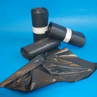 Zsák LDPE/reg 1000x1200mm/30mikron fekete, 10db/köteg, 300db/#