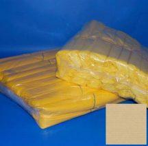 Zsák LDPE 500x600mm/12mikron sárga, 20db/tek., 500db/#
