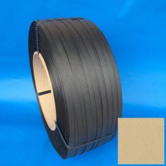 Pántszalag PP 16x0,7mm szürke/fekete cca.1.400 m/tek (kg)