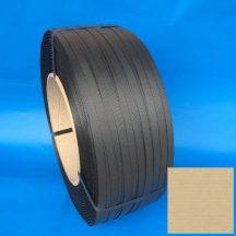 Pántszalag PP 16x0,5mm fekete 2.000 m/tek, 406/150mm, erősített