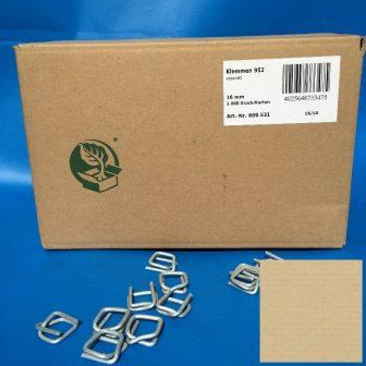Pántcsat fém 16 mm, 1000db/doboz
