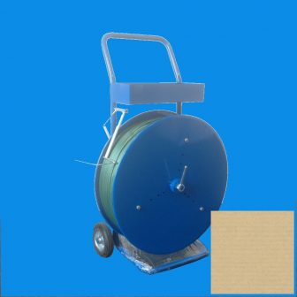 Pántszalag tartó kocsi PET és PP szalaghoz, kék