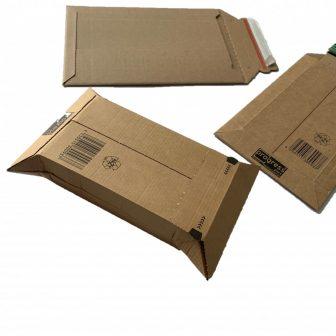 Hullámkarton boríték, 150x250x-50mm (belméret) W01.01, DVD