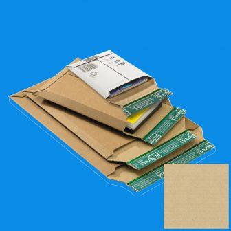 Karton boríték ragasztócsíkkal  520x352x -52mm (külméret) PP W01.08, A3 méret