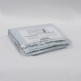 Futártasak 175x250+50mm fehér/fekete