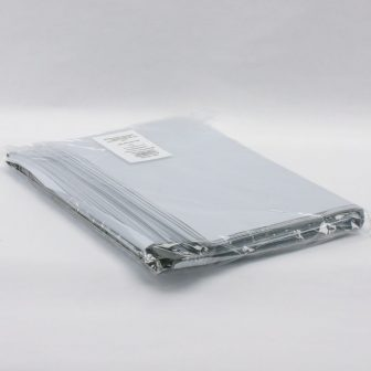 Futártasak 350x450+50mm fehér/fekete