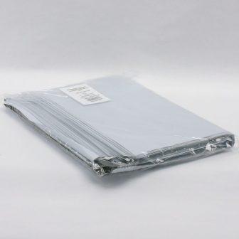 Futártasak PE 350x450+50mm szürke/fekete