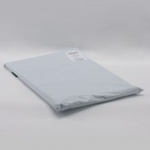 Futártasak PE 400x525+50mm szürke/fekete