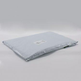 Futártasak PE 450x600+50mm szürke/fekete