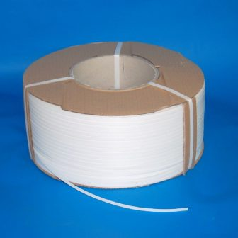 strapping tape PP 8x0,5mm white,3.500 m/roll