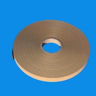 Kötegelő/övező szalag papír 25mm/500m, Kraft barna 76mm cséve