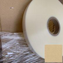 Kötegelő/övező szalag fólia PETP-PE 25mm/850m, áttetsző, 76 mm cséve